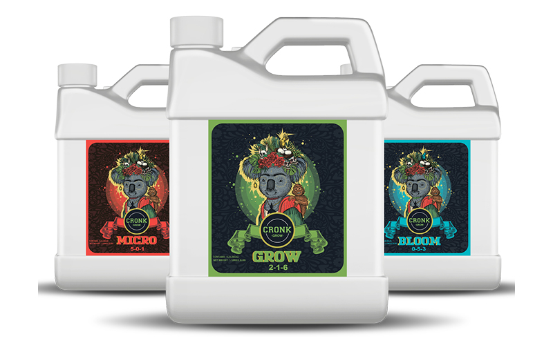 Cronk Grow Nutrients product lineup