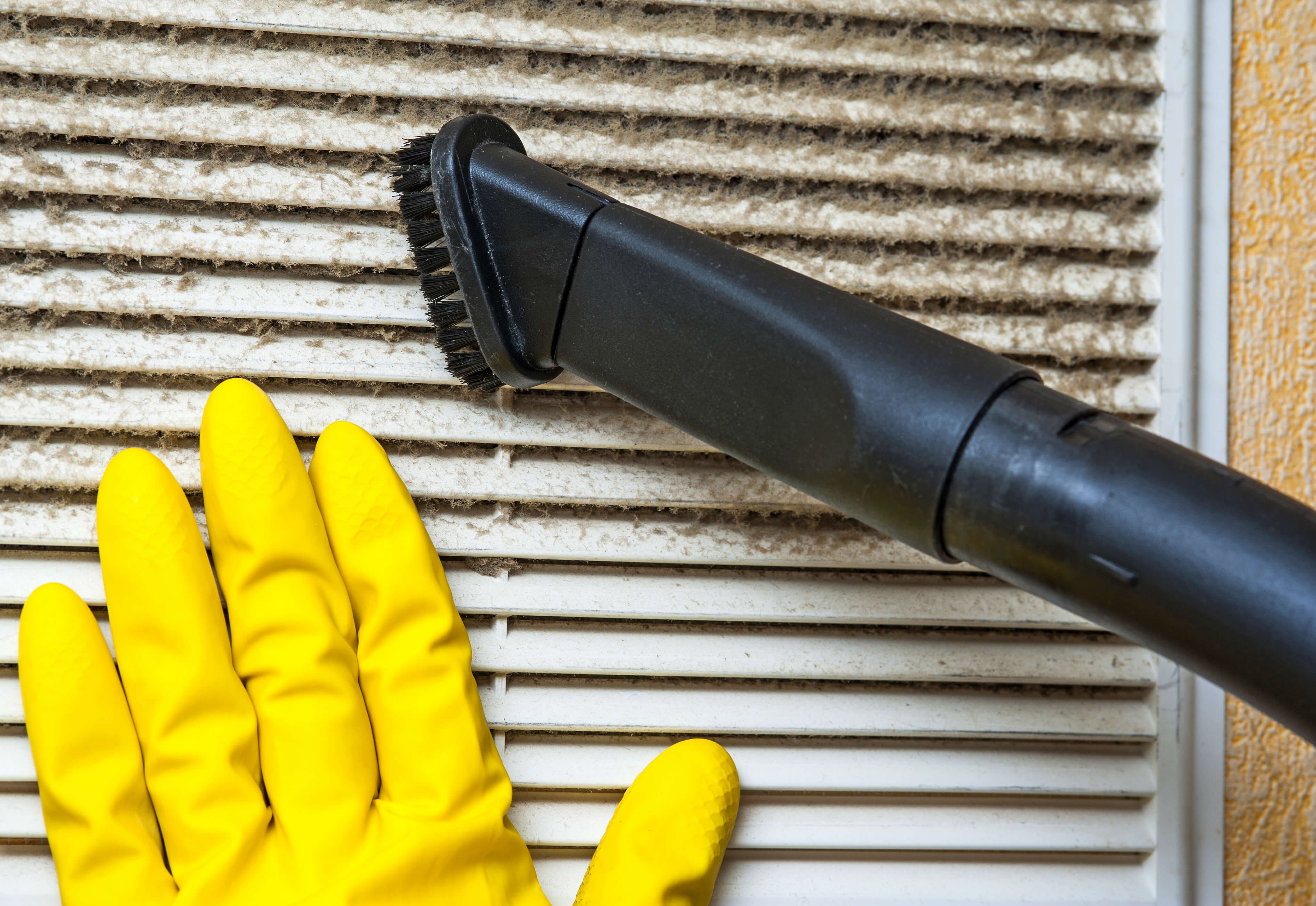 Ventilation grill cleaning