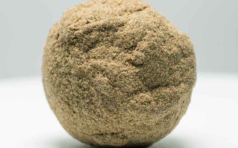 Hand Pressed Ball of Dry Sift Hash