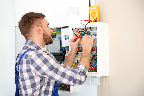 Checking voltage indoors with digital multimeter