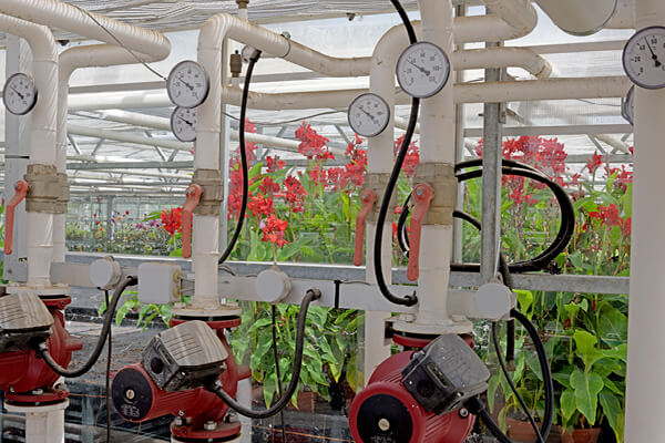 CO2 Climate Control in a greenhouse