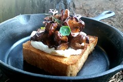 Cooking with Cannabis: Wild Mushroom + Ricotta Toast