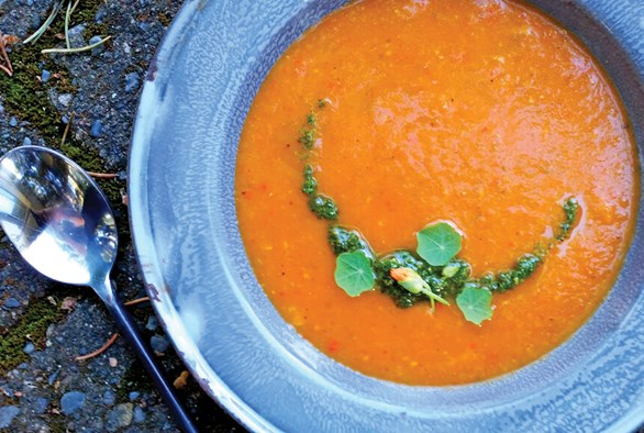 Cooking with Cannabis: Oven-Melted Heirloom Tomato Soup