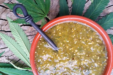 Cooking with Cannabis: Terpene Fortified Tomatillo Cannabis Leaf Salsa Verde