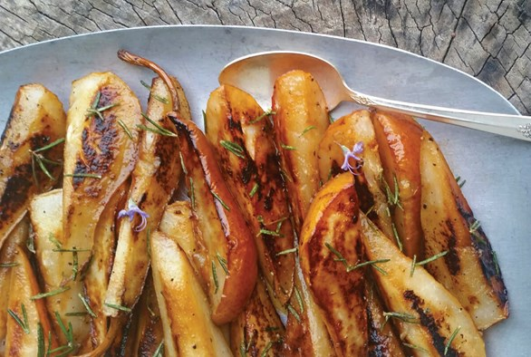 Cooking with Cannabis: Bacon Fat and Browned Butter Caramelized Pears