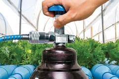 CO2 tanks inside a greenhouse.